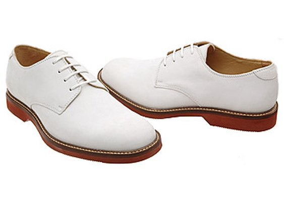 Men's Johnston and Murphy White Bucks