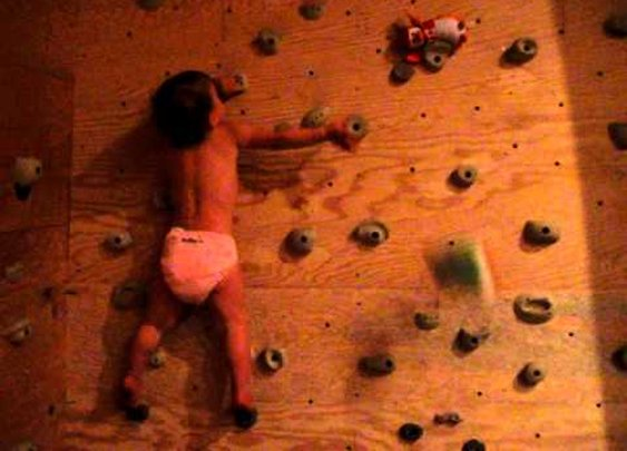 22 Month Old Bouldering      - YouTube