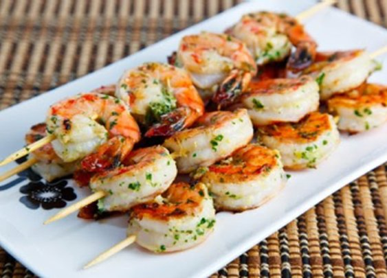 Grilled Shrimp With Garlic & Herbs Recipe