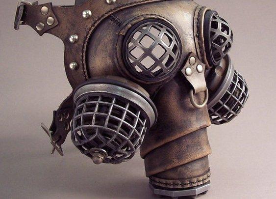 Ragnarok Gas Mask  Steampunk Leather by TomBanwell on Etsy