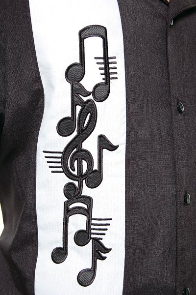 Music Note Bowling Shirt - Up to Size 3X