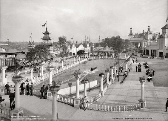 Luna Park in Pittsburgh, Pa, 1905
