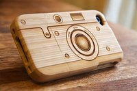 Wooden Etched Camera iPhone Case
