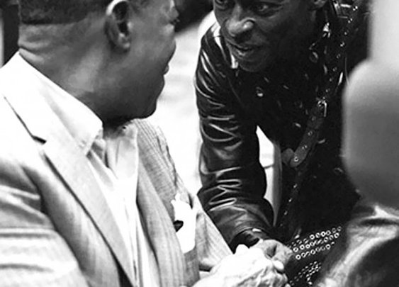 jazz giants. louis armstrong and miles davis