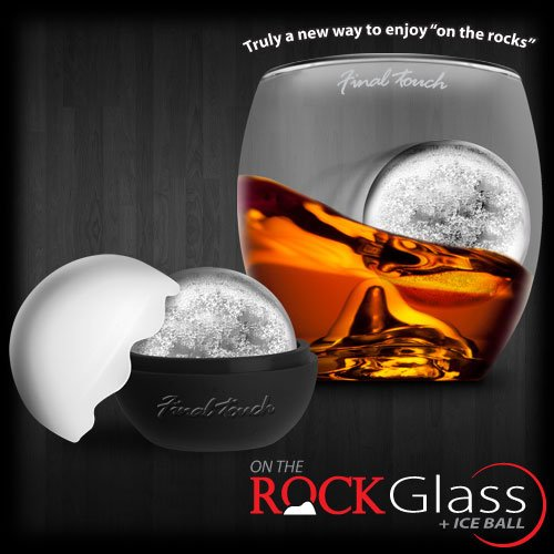 Final Touch On The Rock Glass + Ice Ball