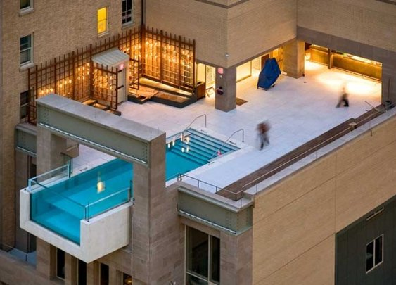 The coolest penthouse pool, no?