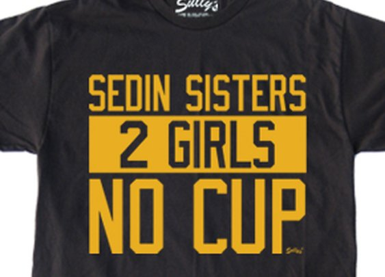 Sedin Sisters: 2 Girls NO CUP T-Shirt - SULLY'S