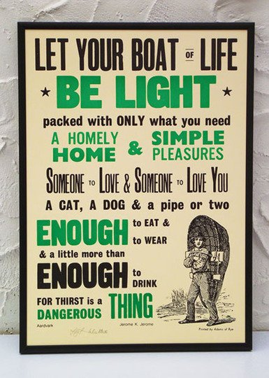 Words To Live By:  Prints & Posters