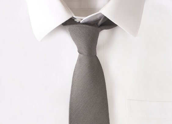 Wool Grey Solid Tie