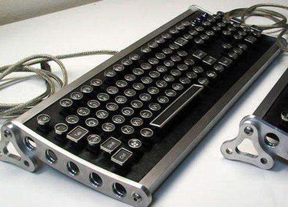 Aviator Steampunk Keyboard by Datamancer | eBay