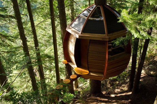 A Whimsical Treehouse in Whistler  Dwell  | Apartment Therapy