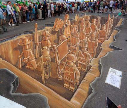A sick 3D Chalk Drawing