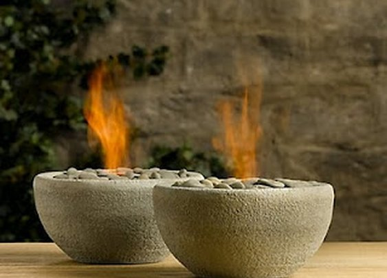 Homemade little fire pits