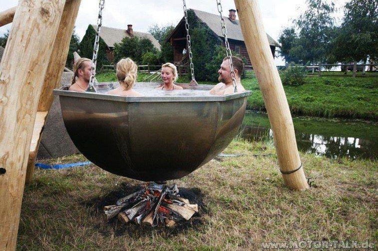 Old School Hot Tub