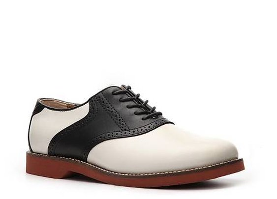 Bass Men's Two-Tone Leather Saddle Shoes