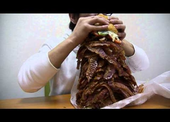 Japanese Man Orders $80 Whopper With 1,050 Strips Of Bacon