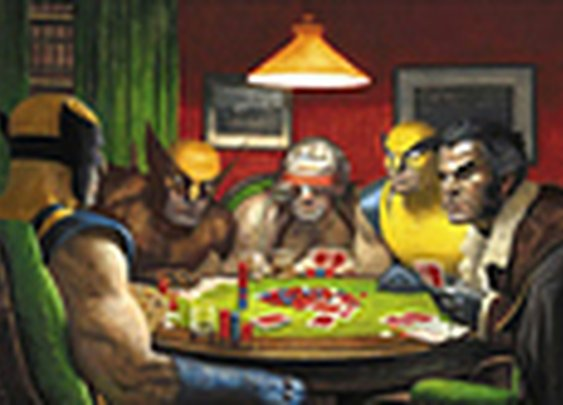 Wolverines Playing Poker [PIC]