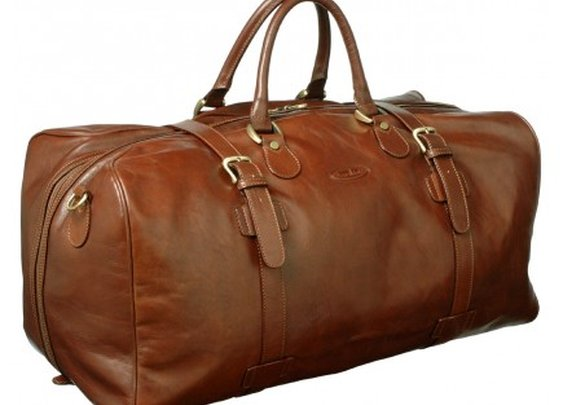 Best Italian tan leather holdalls for men made of luxury leather - £487.99