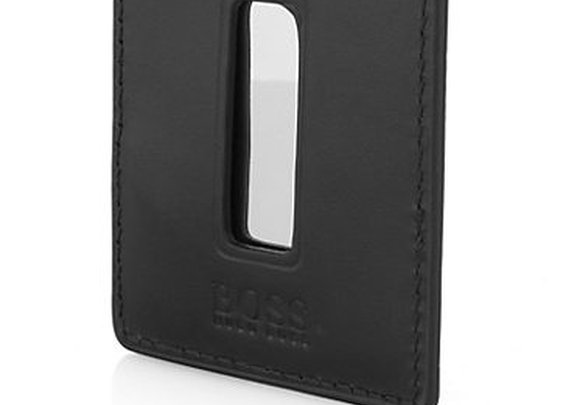Leather business card holder 'PEDASO' by BOSS Black