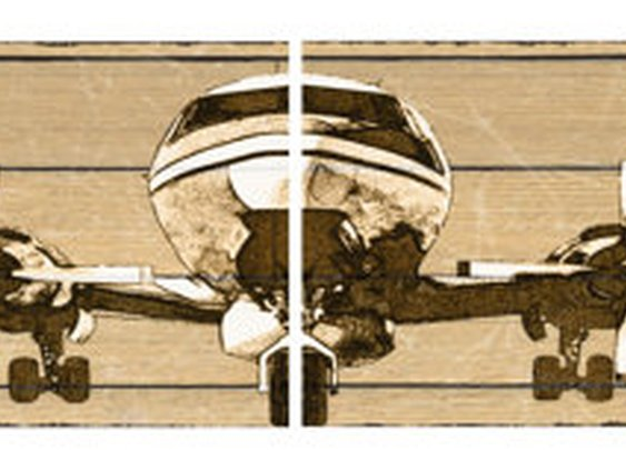 12 x 12 Douglas DC7 Canvas Airplane Panels by South5thStreetDesign