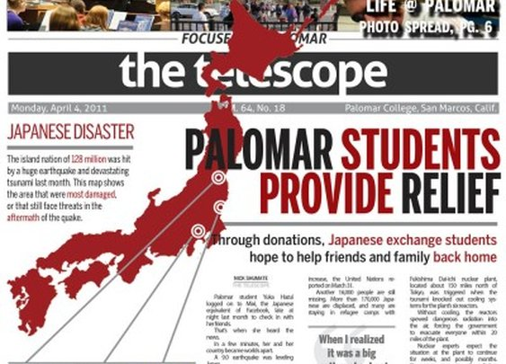 Amazing design work from a community college newspaper