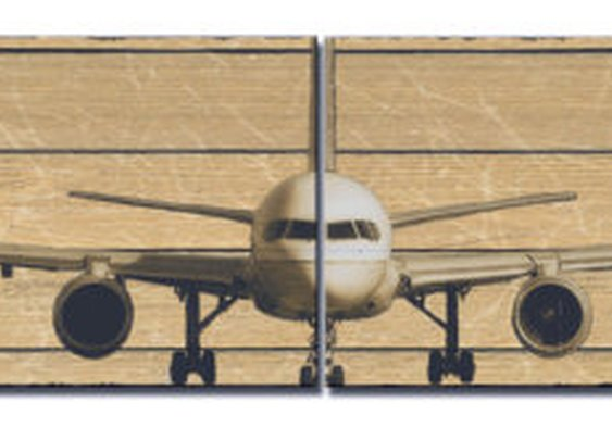 12 x 12 Boeing 757 Canvas Airplane Panels by South5thStreetDesign