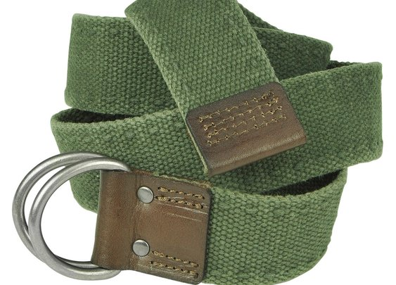 Cotton Web Belt - Olive Green