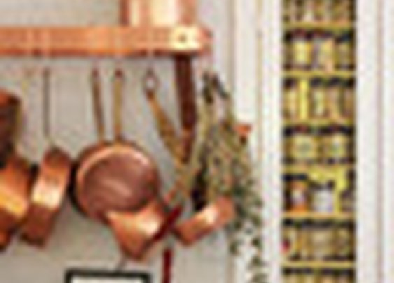 Copper pots and pan