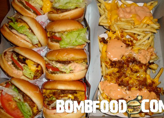 In N Out Animal Style Burgers and Animal Style Fries