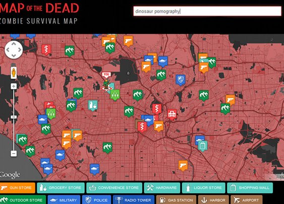 'Map Of The Dead' Zombie Apocalypse Survival Aid | Geekologie