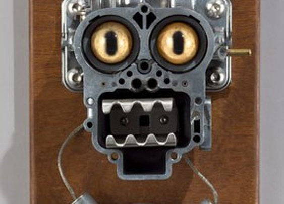 Assemblage Robot Head Night Light by Talbotics