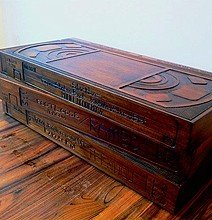 Wooden VHS Coffee Table