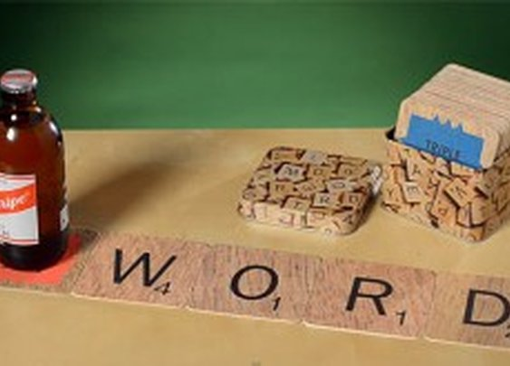 SCRABBLE® COASTERS IN A TIN | MonkeyBait