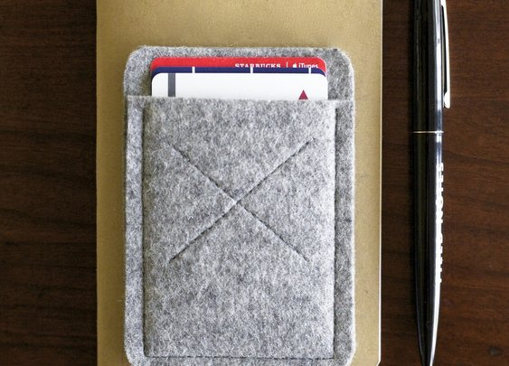 Organic Wool Oxford Card Sleeve Wallet