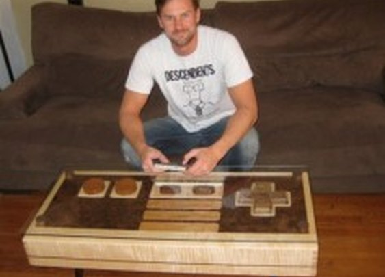 Coffee Table Doubles As Mega-Sized Nintendo Game Controller - PSFK