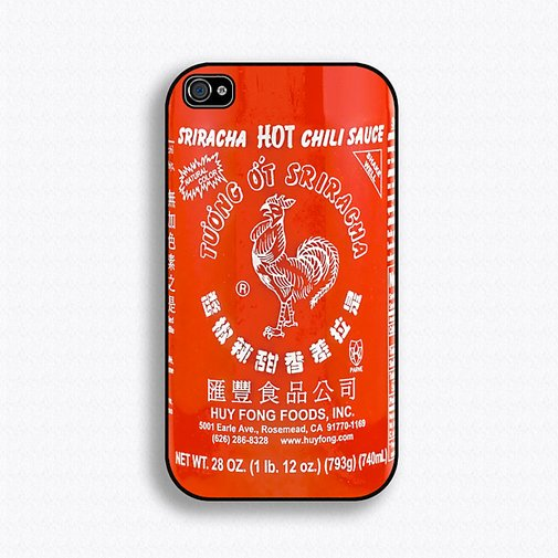 Sriracha Hot Sauce iPhone Case at werd.com