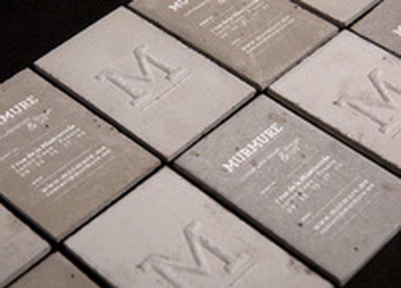 Concrete business cards