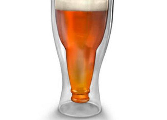 ThinkGeek :: Hopside Down Beer Glass