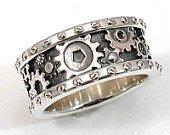 Men's Steampunk Ring/Wedding Band