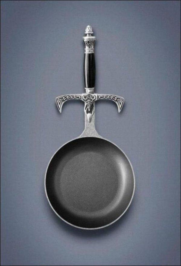 Sword Handle Frying Pan