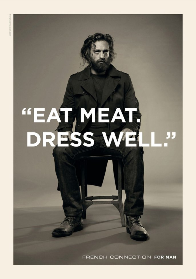 French Connection: Eat meat | Ads of the World™