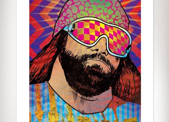 MACHO Randy Savage Wrestling Art Print 11x17 by Rob by RobOsborne