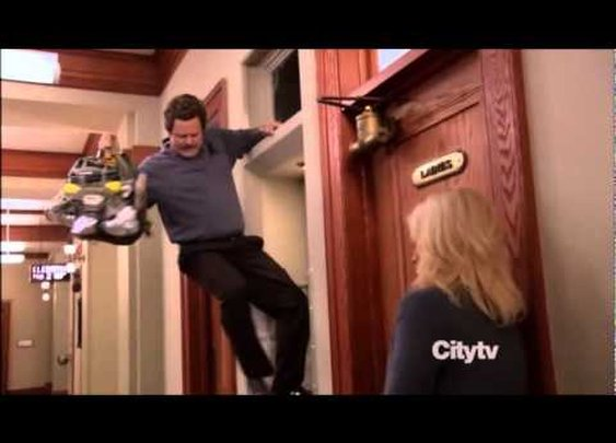 Ron Swanson escape (video)