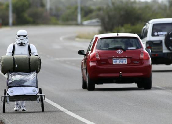 Homeless Stormtrooper seen in Australia