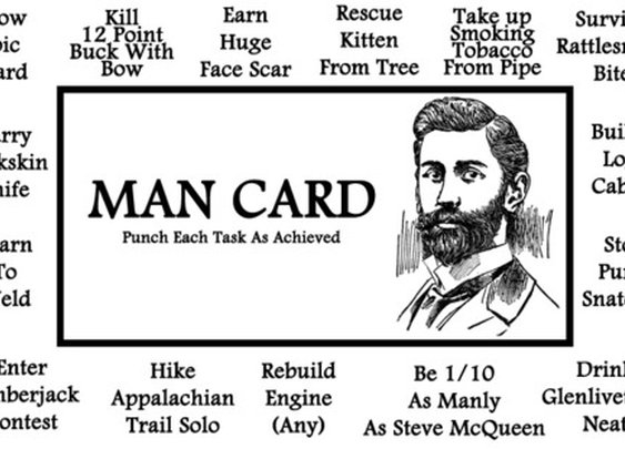 The original Man's Man Card