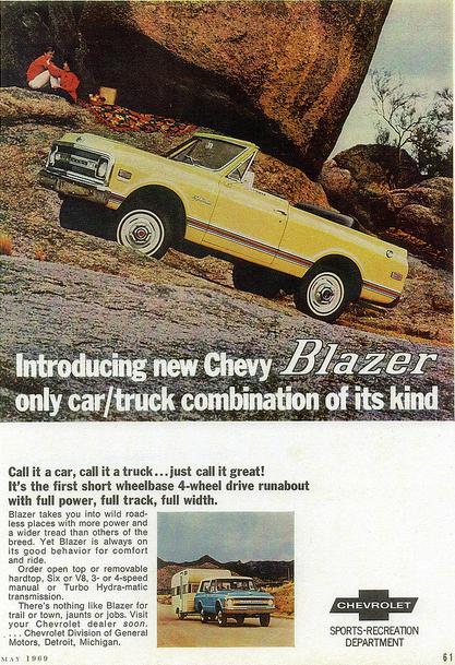 1969 Chevrolet Blazer Vintage Ad | Curbside Classic