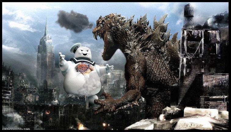 Stay Puft vs. Godzilla