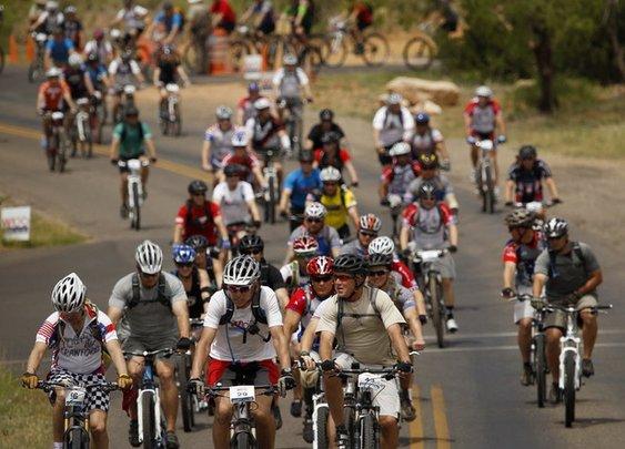 Day 1 of George W. Bush's Warrior 100K Ride sees fast trails, early triumphs  | Trail Blazers Blog | dallasnews.com