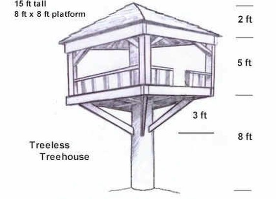 The tree-less tree house.
