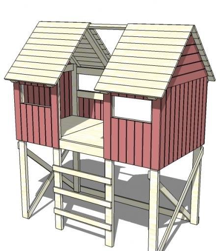 Ana White | Build a Beach Hut Bed